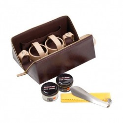 DE LUXE BROWN SHOE CARE TRAVEL KIT TCV20000